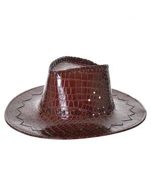 Deluxe Brown Crocodile Skin Australian Akubra Cowboy Hat