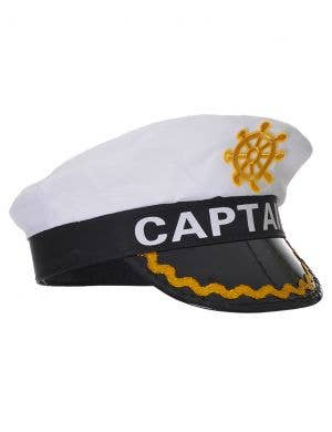 Deluxe Black and White Captains Costume Hat