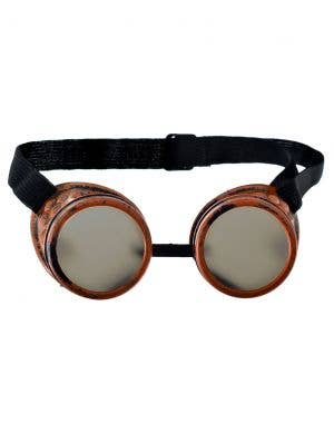 Steampunk Bronze Eye Goggles on Elastic Band