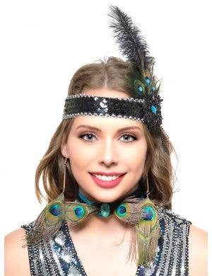 Peacock 1920s Flapper Choker Costume Necklace
