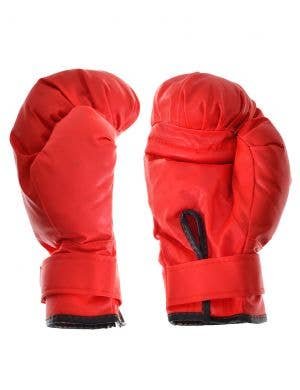 Plush Red Boxing Gloves Sports Costume Accessory