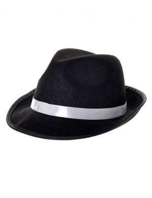 1920's Gangster Feltex Black Costume Hat