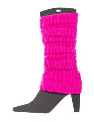 Neon Pink 80's Leg Warmers Image 1