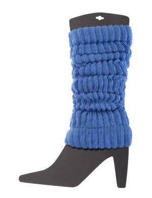 1980's Blue Leg Warmers Costume Accessory Image 1