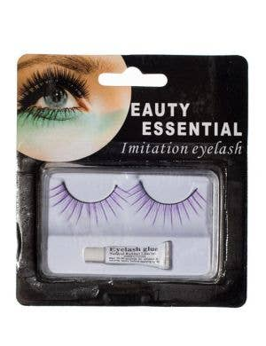 Layered Split False Eyelashes in Purple