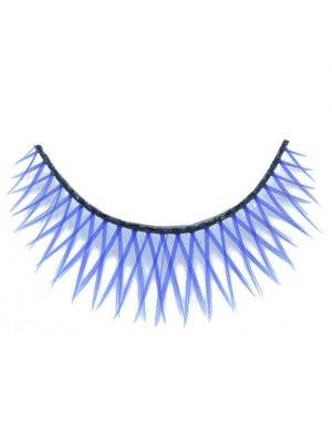 Cross - Hatched False Eyelashes in Blue