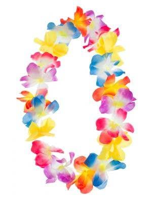 Hawaiian Luau Multicoloured Tropical Flower Lei Costume Accessory