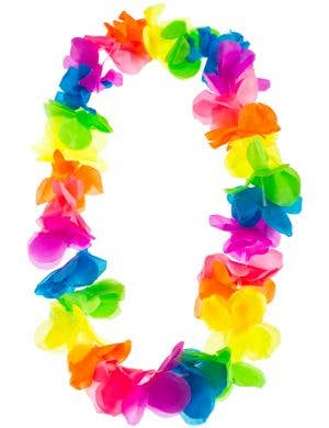 Hawaiian Multicoloured Tropical Flower Lei Costume Accessory