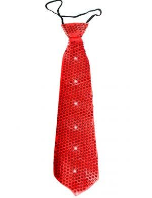 Flashing Sequined Light Up Red Novelty Neck Tie