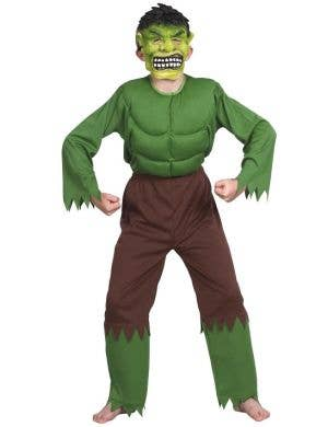 The Incredible Hulk Boys Superhero Costume Front View