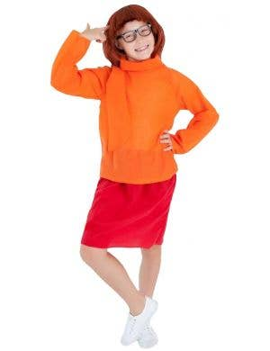 Girls Velma Fancy Dress Costume Main Image