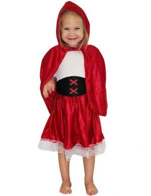 Girls Little Red Riding Hood Costume Front View