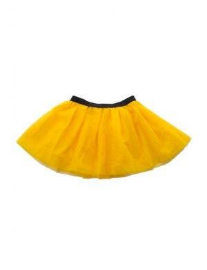Mesh Girl's Yellow 3 Layered Costume Petticoat