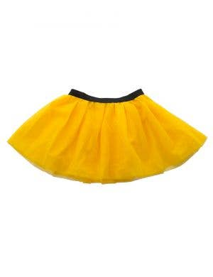 Mesh Girl's Yellow 3 Layered Costume Petticoat