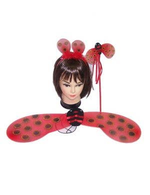 Ladybug Wings And Wand Kids Costume Kit Main Image