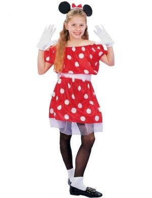 Girls Minnie Mouse Disney Costume Front View
