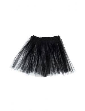 Layered Women's Black Halloween Petticoat