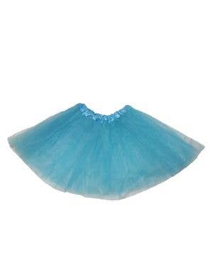 Blue Net Girl's Layered Costume Petticoat Front View