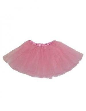 Pink Net Girl's Layered Costume Petticoat Front View