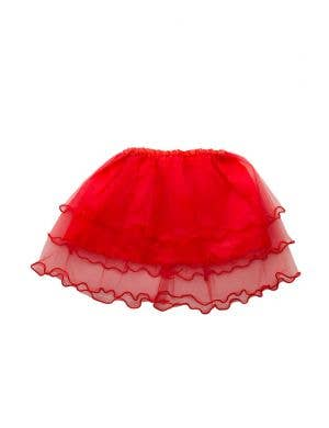 Layered Mesh Girl's Red Frilled Costume Tutu