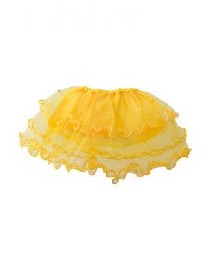 Layered Mesh Girl's Yellow Frilled Costume Tutu