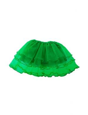 Layered Mesh Girl's Green Frilled Costume Tutu