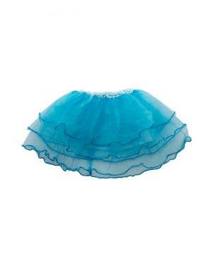 Layered Mesh Girl's Blue Frilled Costume Tutu