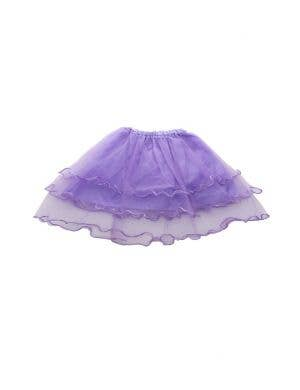 Layered Mesh Girl's Purple Frilled Costume Tutu