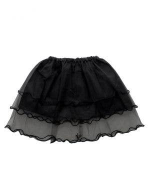 Layered Mesh Girl's Black Frilled Costume Tutu