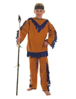 Cheap Boys American Indian Costume Main Image