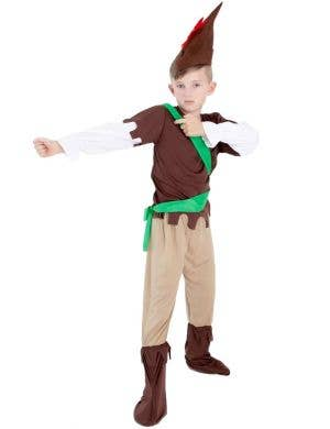 Kids Robin Hood Medieval Costume Front View