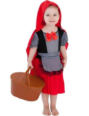 Little Red Riding Hood Toddler Girls Costume Front View