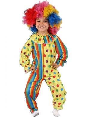 Kids Circus Clown Book Week Costume Front View