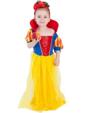 Snow White Princess Toddler Girls Costume Front View