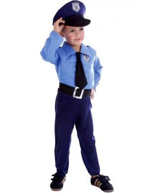 Toddler Policeman Fancy Dress Costume Front View