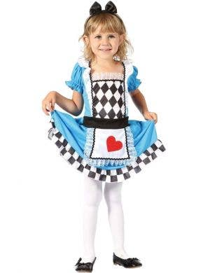 Cute Alice in Toddler Girls Book Week Costume Front View