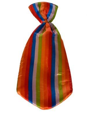 Jumbo Clown Neck Tie with Rainbow Stripes