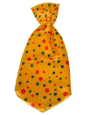 Jumbo Clown Neck Tie in Yellow with Spots