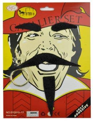 Cavalier Pirate Moustache Accessory Set