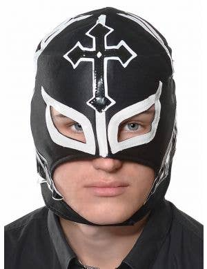 Lucha Libre Mexican Wrestler Men's Black Costume Mask