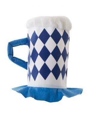 Blue and White Oktoberfest Beer Stein Novelty Hat