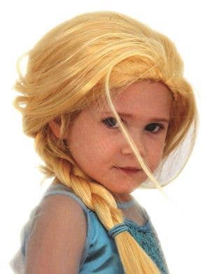 Ice Queen Elsa Girl's Plaited Blonde Book Week Costume Wig