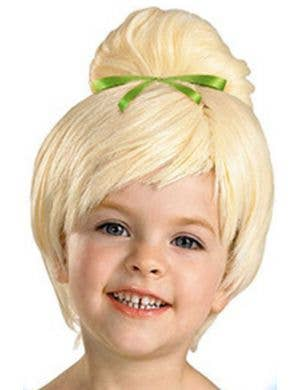 Green Fairy Girls Blonde Costume Wig Main Image