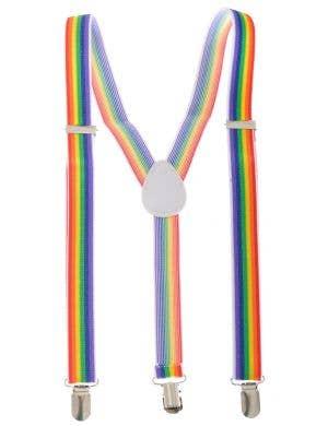Rainbow Striped Suspenders Costume Accessory