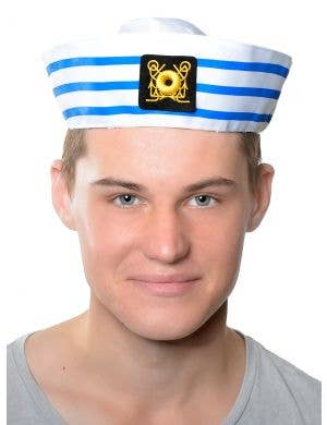 Navy Sailor Adult's Striped Gob Costume Hat