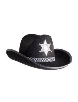 5bddb2a186d Deputy Sheriff Cowboy Adults Black Hat Costume Accessory ...