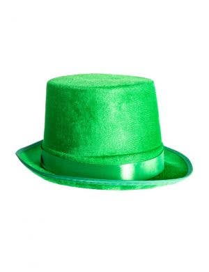 Velvet Green St Patrick's Day Top Hat Costume Accessory