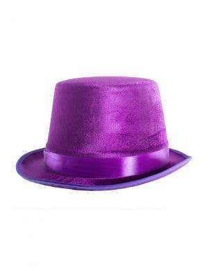 Velvet Purple Adults Top Hat Costume Accessory