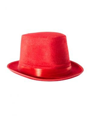 Velvet Red Adults Top Hat Costume Accessory