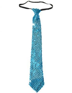 Sequined Blue Gangster Costume Tie